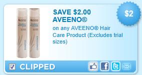 Aveeno Hair Care Coupon