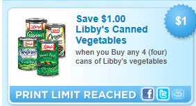 Libby Vegetable Coupon