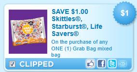 Starburst Skittles Life Savers Coupon